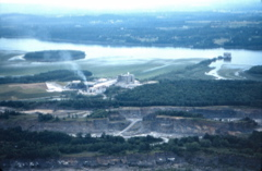 Aerial photo of Catskill cement plant by B. Docktor