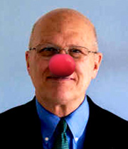 Don Moore, clowning around