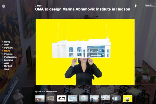Screenshot from Koolhaas/OMA site