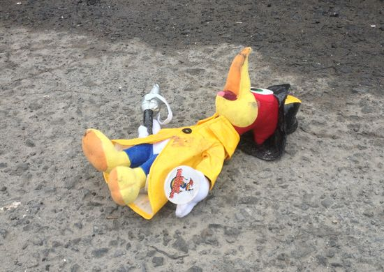 Woody Woodpecker, felled at the dump