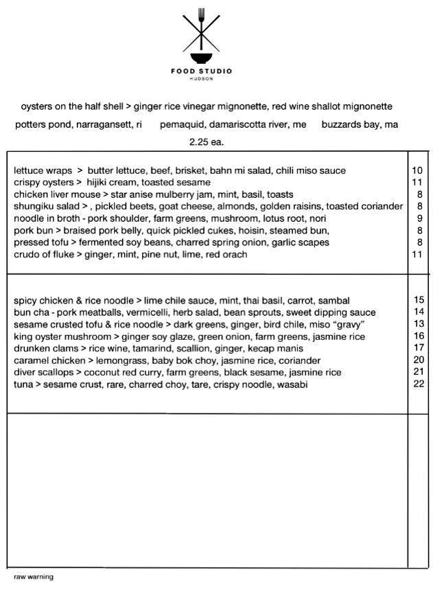 Foodstudio-menu