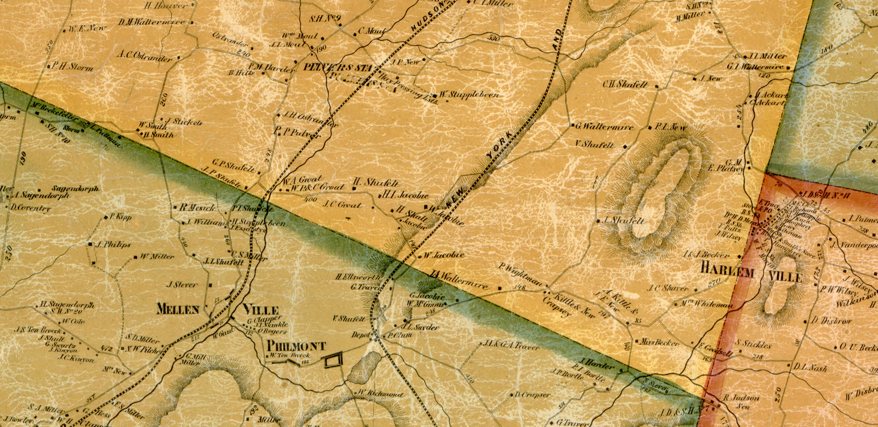 Free hires historical map of Columbia County SamPrattcom
