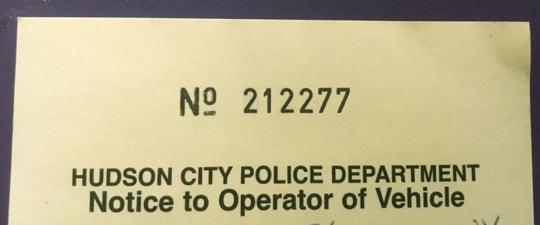 Hudson-parking-ticket