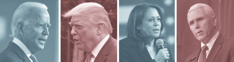 Trump-biden-pence-harris